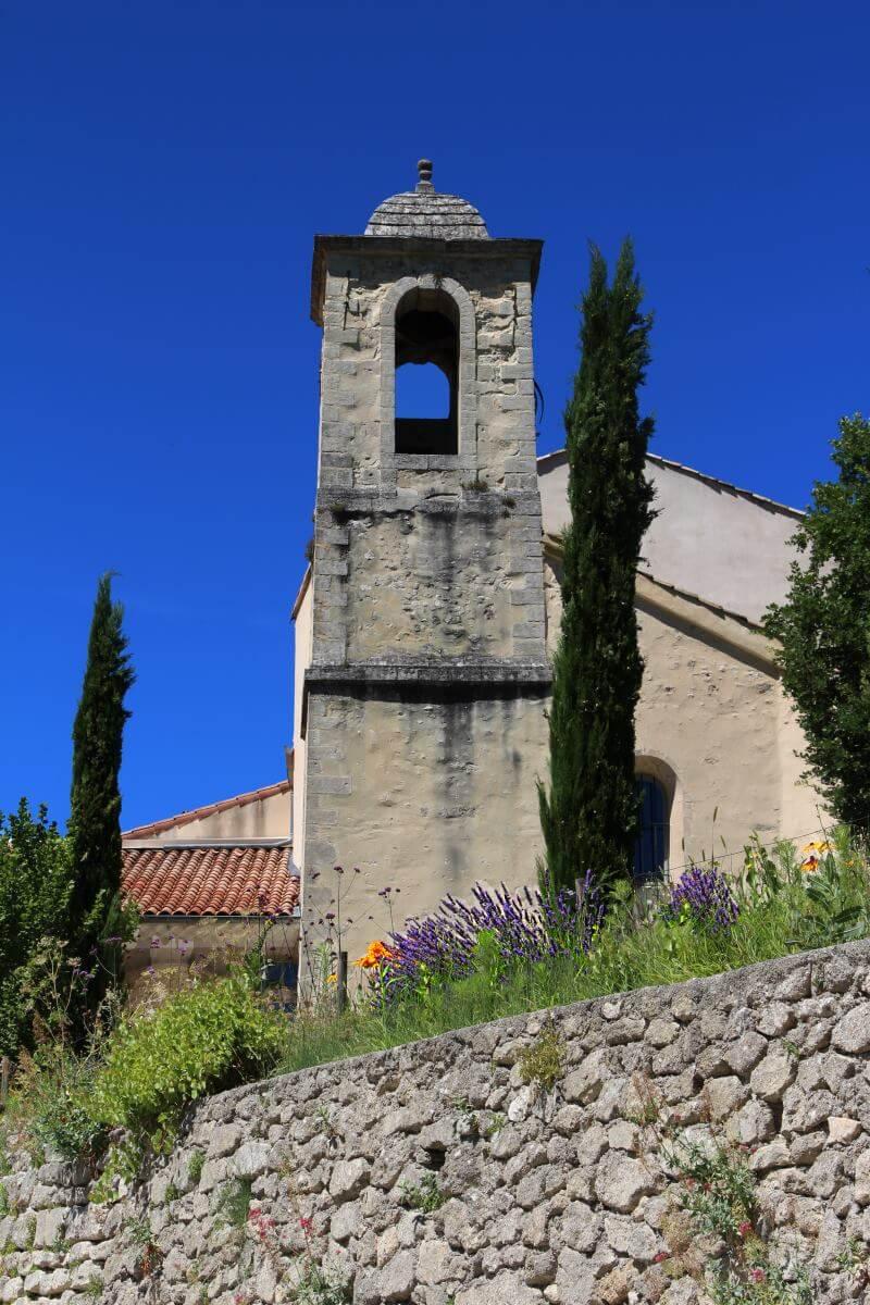 Haute Provence, Forcalquier, Mane. Couvent des Minimes, le clocher de la chapelle.