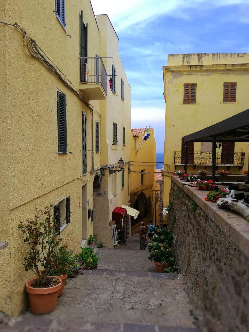 Italie, Sardaigne, Castelsardo, vieille ville, ville haute.
