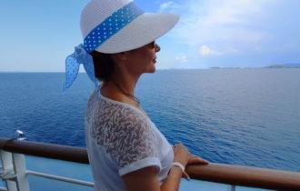 Corsica-Sardinia Ferries, Mega Express One, Sardaigne, Amélie, chapeau colonial victorien