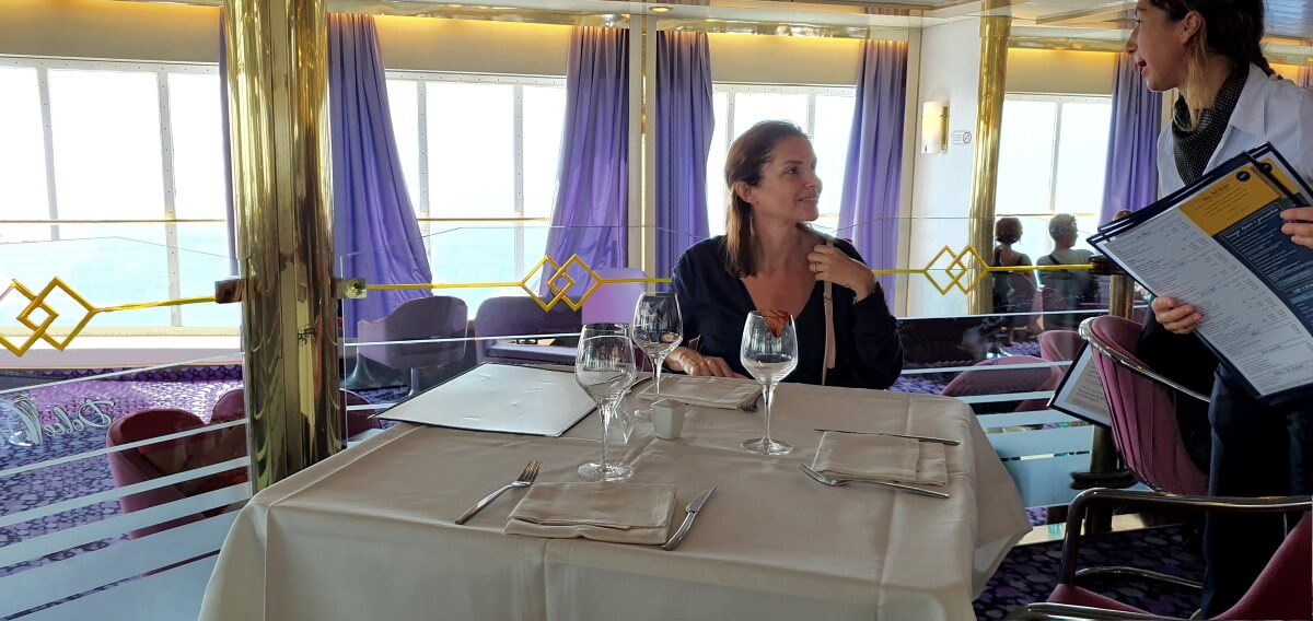 Corsica-Sardinia Ferries, Mega Express One, Sardaigne, restaurant Dolce Gusto, Améle.